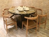 工业风土菜馆圆桌椅子组合订制