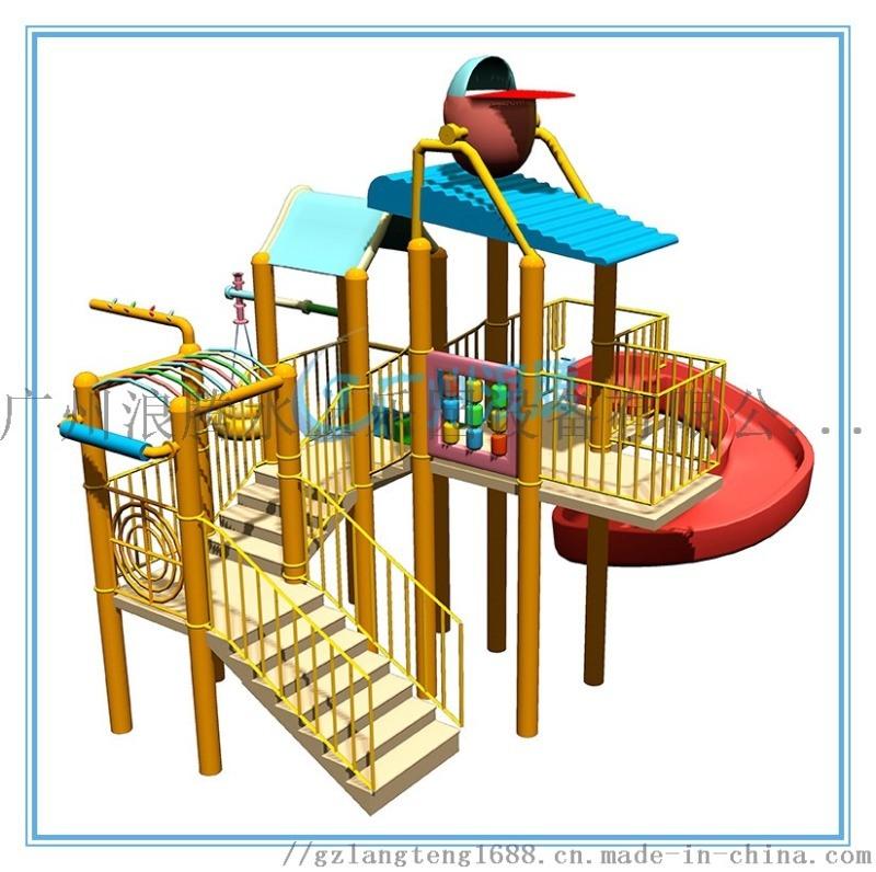 高人气游乐场所少不了儿童水屋,广州浪腾专业设计生产水上乐园设备水屋水寨