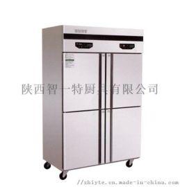 商用大冰箱四门留门平冷工作台不锈钢冰箱商用