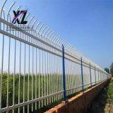 栅栏型围墙护栏,三杆锌钢护栏,锌钢栅栏围栏立柱