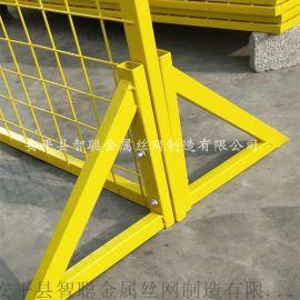 车间设备隔离栅 工厂仓库用临时护栏网 绿色框架围网