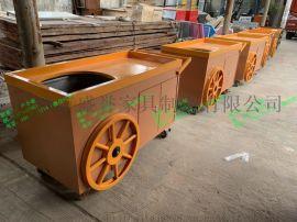 木质手推车移动售卖亭户外木屋景区实木售卖车