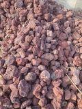 厂家供应红色火山石 园艺种植火山石 水处理火山石