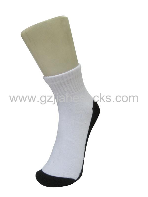 黑底白身学生袜 广州中小学生校服袜 纯棉学生袜