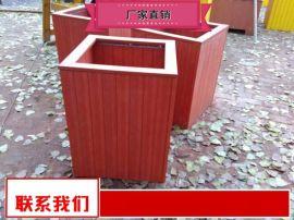 供应商庭院木质花箱奥博厂家 户外实木花箱