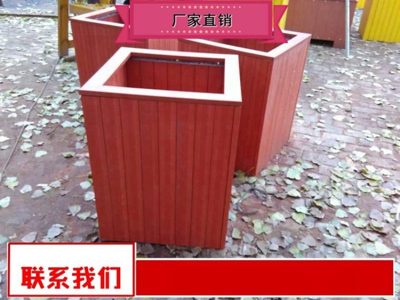 供應商庭院木質花箱奧博廠家 戶外實木花箱
