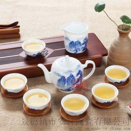 青花瓷礼品茶具 景德镇手绘礼品茶具