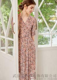 服装店拿货LINAYUN绣花系带公主裙