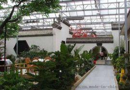 供应高端玻璃智能生态温室 智能生态餐厅温室建造
