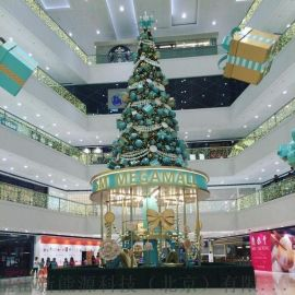 天津生产大型钢结构圣诞树 异型树框架 发光圣诞树