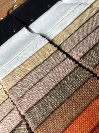 现货仿麻布料700D150平方克扎毛涂层仿亚麻手袋香包餐包工艺面料