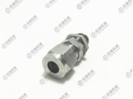 卡套穿板快插气管直通 304不锈钢PK8-8卡金属管隔板气管 气动接头