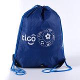 藍色揹包束口袋滌綸袋雙肩揹包袋戶外旅遊活動袋