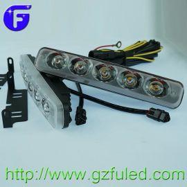 通用型LED日间行车灯 5灯日行灯 大功率5LED透镜高亮防水转向指示