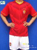 厂家定做2015亚冠广州恒大足球服恒大冰泉球衣