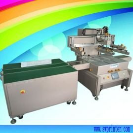 全自动玻璃丝印机,输送带丝网印刷机
