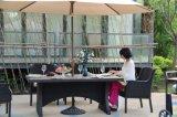 铝编藤餐椅铸铝包边瓷砖长方桌藤编桌椅馨宁居户外家具