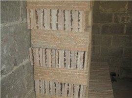 出售河南晚霞红天然条纹砖文化石
