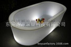 博源发光家具 LED七彩发光浴缸 酒店  时尚浴盆 工厂直销