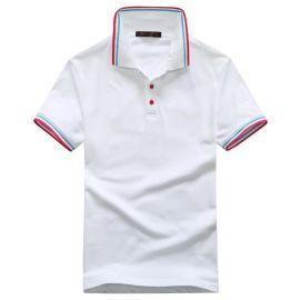 夏季男女班服團體廣告衫定做通款短袖T恤翻領衫來圖定制工作服