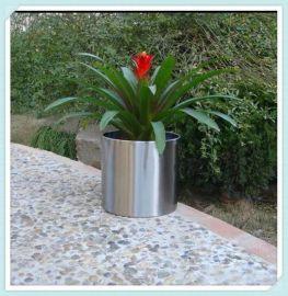 供应园林创意组合花箱花钵不锈钢玫瑰**盆加工广场栽花花盆定制