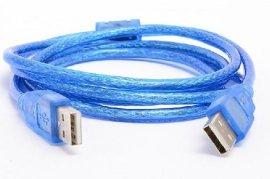 连达USB2.0公对公连接数据线1.5/3米双头AM转接