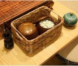 草編 藤編化妝品收納盒收納筐 籃 宜家內衣 整理箱