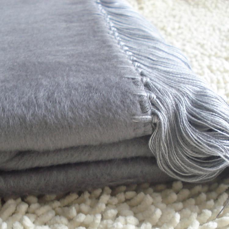 新款竹纖維披肩 雙面絨加厚女披肩 外貿圍巾披肩加工