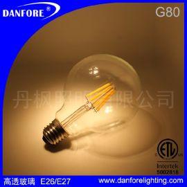 G80球泡灯,G80 LED陶瓷灯丝球泡灯, LED钨丝灯,