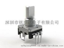 供应EC12精密可调编码器,增音量式编码器,带按压开关编码器