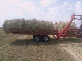供应厂家直销草料圆捆拖车、草捆捡包王、茎杆捆 捡包机
