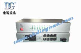 单芯单模八电口光纤收发器