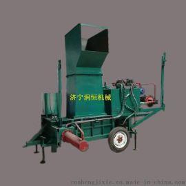 黑麦草青贮方捆打包机 卧式套袋青贮牧草压块机