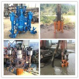 合肥钩机搅拌河沙泵 池塘清淤专用砂浆泵 勾机大型排浆泵