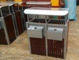 供应园林垃圾桶 室外钢木垃圾桶