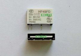 宏发继电器HF49FD/012-1H11GTF 5A/30VDC, 250VAC