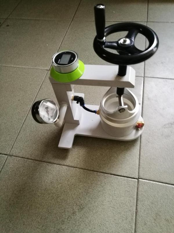 JIMIWLED手动水压机(JM-S2)面料测试机