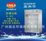 安徽黄山 爱科华BL-800玻璃门防爆冰箱