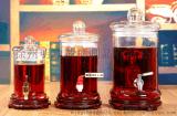 5斤10斤裝加厚泡酒瓶帶龍頭無鉛玻璃釀藥酒容器白酒桶酒缸