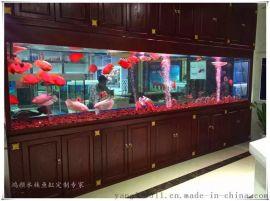 泰州鱼缸定做大型水族箱工程嵌墙式鱼缸