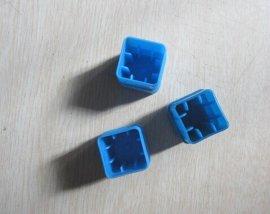 蓝盖透明管铣刀盒 四方形透明塑胶盒