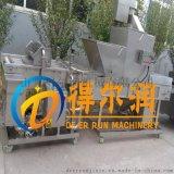 得尔润炸鸡上浆裹粉机 不锈钢挂浆裹粉线自动化操作