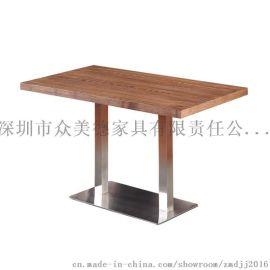 中式实木餐厅餐桌,众美德四人餐桌厂家,餐厅家具定做