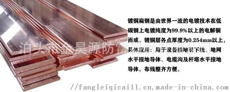 铜覆钢扁钢铜包钢扁铁扁线出口标准免费提供检测报告