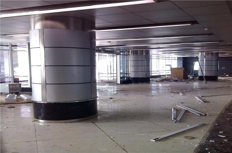 涼亭包柱鋁單板 樓梯包柱造型鋁單板