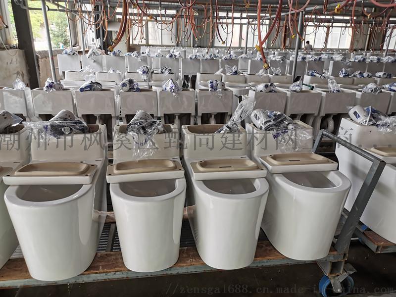广东潮州十大连体坐便器马桶座厕OEM贴牌生产厂家