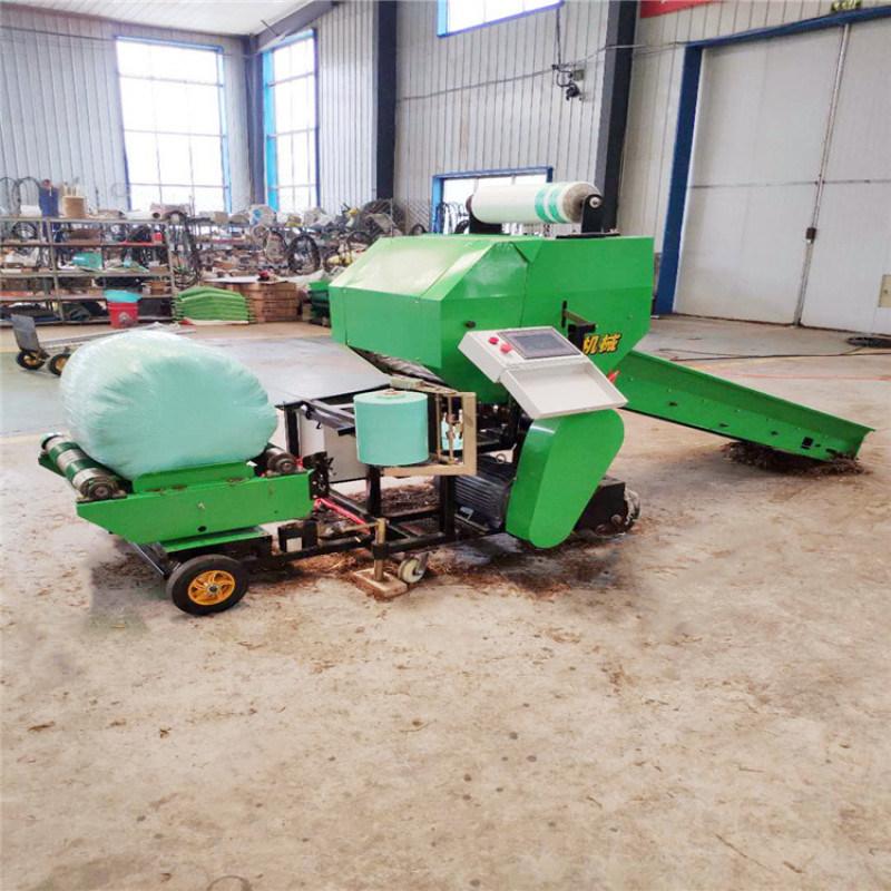 青贮玉米打包机,全自动秸秆青贮压捆机