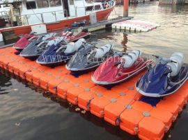 高分子聚乙烯水上浮筒摩托艇码头浮动平台