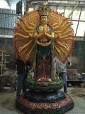 树脂玻璃钢佛像 彩绘贴金塑像 厂家直销菩萨像