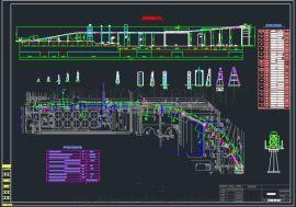 400管状输送机图纸/圆管带式输送CAD图纸